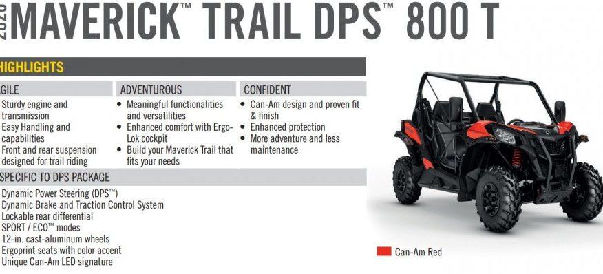BRP Can-Am Maverick Trail DPS 800 T