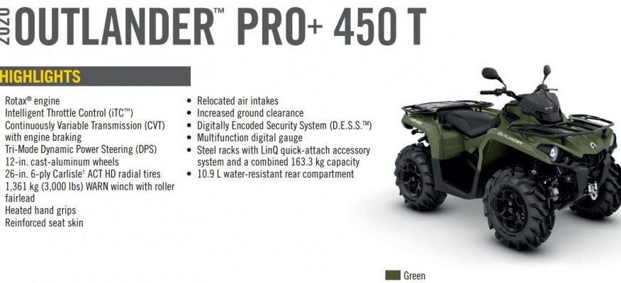 BRP Can-Am Outlander 450 PRO+ T