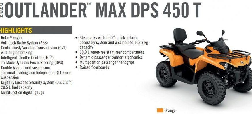 BRP Can-Am Outlander MAX 450 DPS T