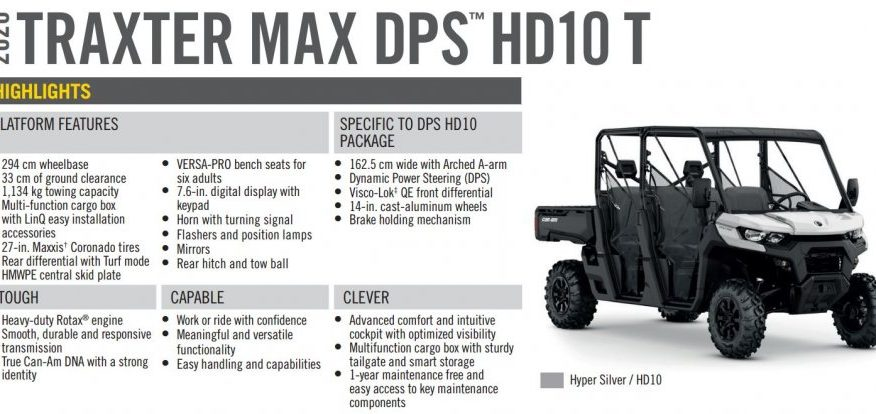 BRP Can-Am Traxter MAX DPS HD10 T